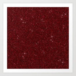 C13D Red Glitter Art Print