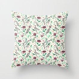 Green bird Throw Pillow