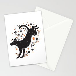 Dogs of Fall - Orange Palette Stationery Cards