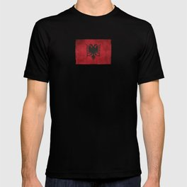 Old and Worn Distressed Vintage Flag of Albania T-shirt