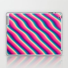 Abstract Color Burn Pattern - Geometric Lines / Optical Illusion in Rainbow Acid Colors Laptop & iPad Skin