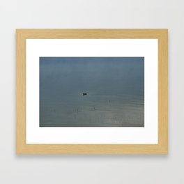 Morning Blue: Mallard Framed Art Print