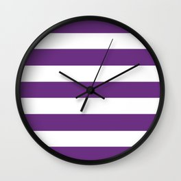 Eminence - solid color - white stripes pattern Wall Clock