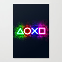 Playstation smoky  Canvas Print