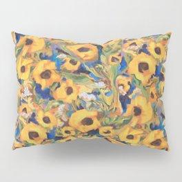 Wild Sunflowers Pattern Pillow Sham