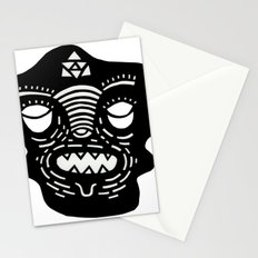 stencil face Stationery Cards