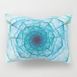 Aqua-green marine flower Pillow Sham