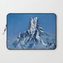 ANNAPURNA NEPAL - MOUNTAIN LANDSCAPE OIL PAINTING Laptop Sleeve