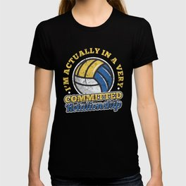Volleyball Commited Relationship distressed T-shirt