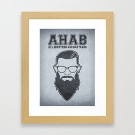 ALL HIPSTERS ARE BASTARDS - Funny (A.C.A.B) Parody Framed Art Print