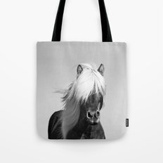 Portrait of a Horse in Scotish Highlands Tote Bag