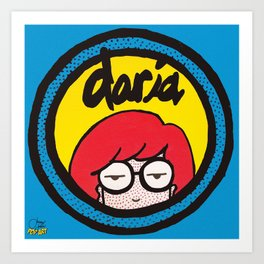 Daria | Pop Art Art Print