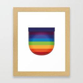 LGBT Pride Pocket Rainbow Flag Framed Art Print