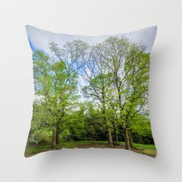 The six trees Throw Pillow