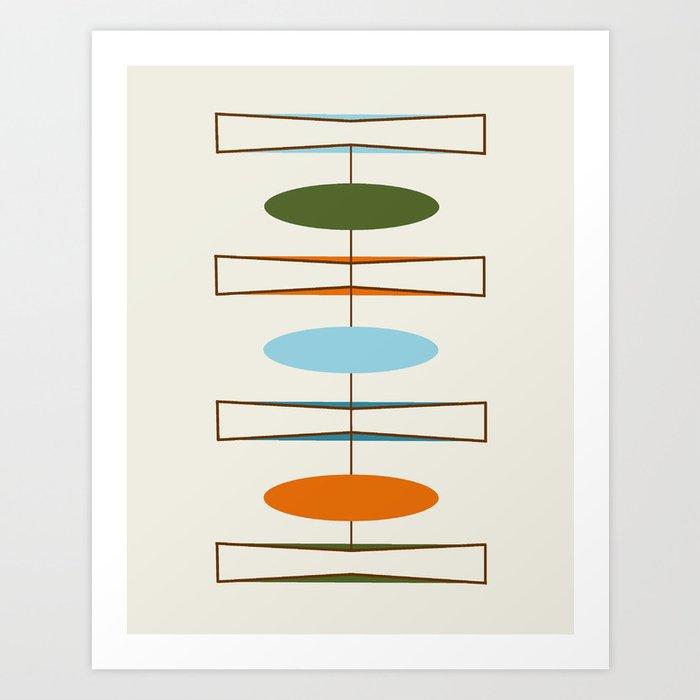 Mid-Century Modern Art 1.2 Art Print