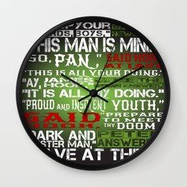 Hook Or Me Wall Clock