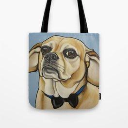 """Puggle Portrait """"Dexter"""" the grump!  Tote Bag"""