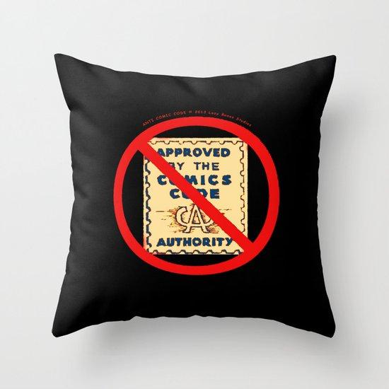 ANTI COMIC CODE 009 Throw Pillow