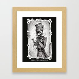 Dead Kitty in a tea cup Framed Art Print