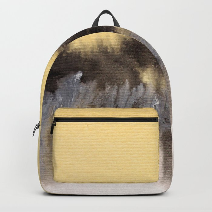 Watercolor abstract landscape 09 Backpack