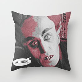 """'Count Orlock, the Vampire #2' from """" Nosferatu vs. Father Pipecock & Sister Funk (2014)"""" Throw Pillow"""