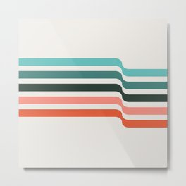 minimal pattern   elliott bryan   Metal Print