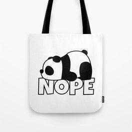 Nope Panda Bear Tote Bag