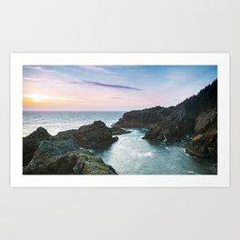 Sunset at Oregon's Indian Sands Art Print