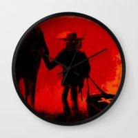 django Wall Clocks featuring Django by IOSQ