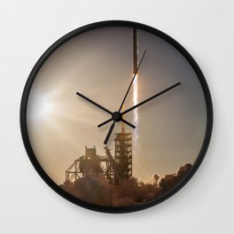 Spacex Rocket Launch Wall Clock
