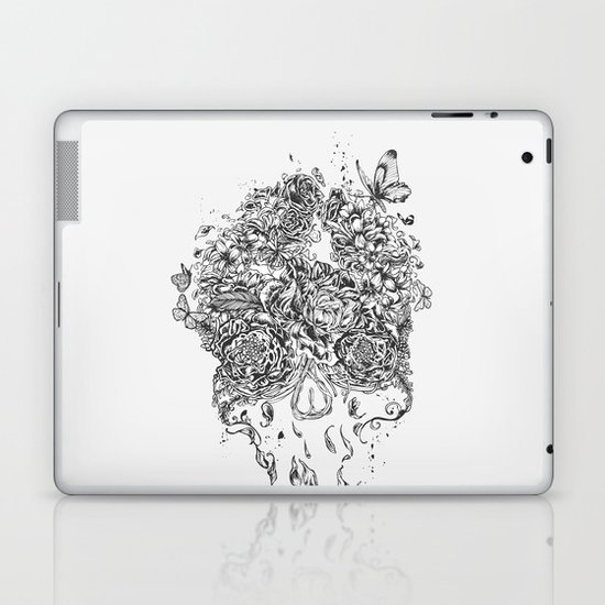 Skull Flower Laptop & iPad Skin