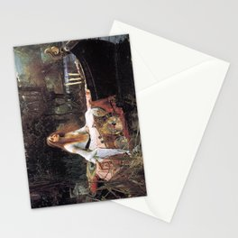 The lady of shalott painting  Stationery Cards
