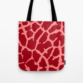 Red Giraffe Print Tote Bag