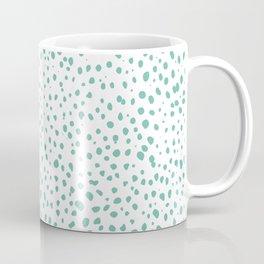 Dalmatian Green Minimal Spots - Polka Dots Coffee Mug