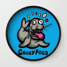 Crazy Foca Wall Clock