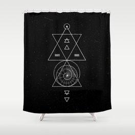 Espiral Triangle Black Shower Curtain