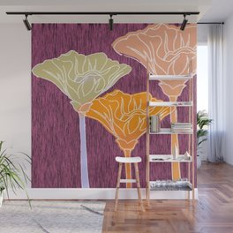 Looking Up with Orange Blush Wall Mural