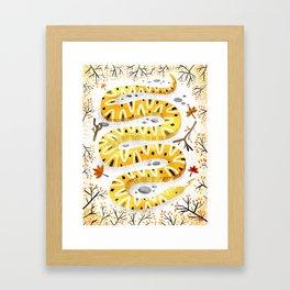 Yellow Snake Framed Art Print