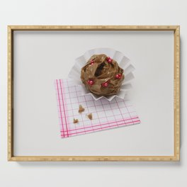 chocolate muffin cupcake paper Serving Tray