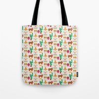 mexico Tote Bags featuring Mexico by Ana Types Type