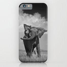 Elephant Throwing Dirt iPhone Case
