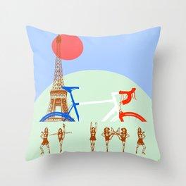 Le tour Throw Pillow