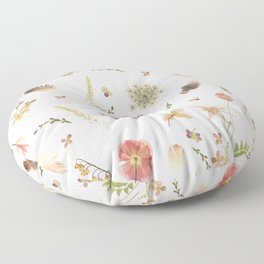 Feathers among Wildflowers Floor Pillow