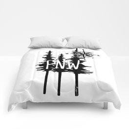 PNW Trees & Compass Comforters