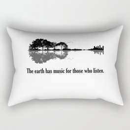 The Earth Has Music For Those Who Listen Guitar Rectangular Pillow