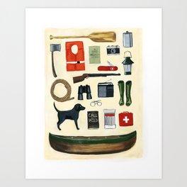 Camping Art Print Art Print