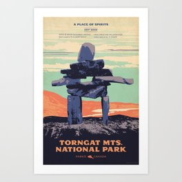 Torngat Mountains National Park Poster Art Print