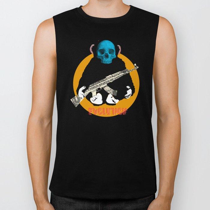 Evolution - (The MonkeyMan & The Gun) Biker Tank