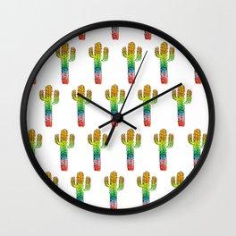 Desert Rainbow II PRIDE PATTERN Wall Clock