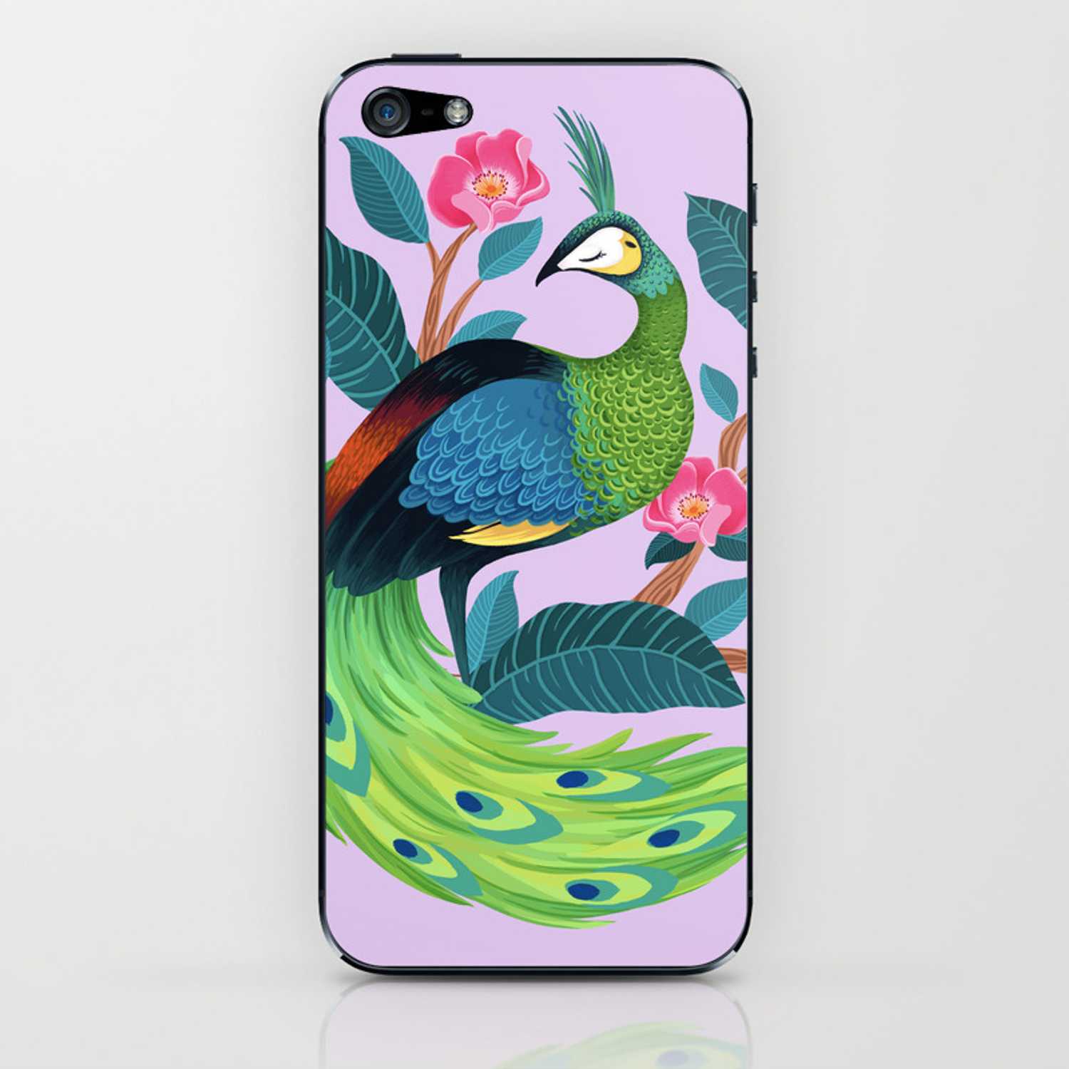 Java Peafowl iPhone Skin by laurenmyers